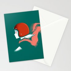 Moped Girl Stationery Cards