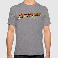 Illinois Smith Mens Fitted Tee Tri-Grey SMALL