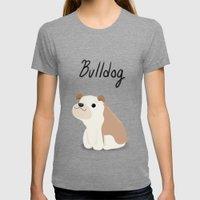 Bulldog - Cute Dog Series Womens Fitted Tee Tri-Grey SMALL