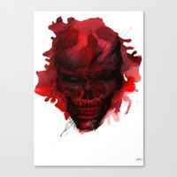 Red Skull Canvas Print