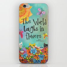 The World Laughs In Flowers iPhone & iPod Skin