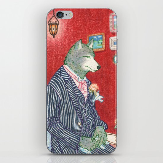 Everyday Animals - Mr Wolf gets ready for his wedding iPhone & iPod Skin