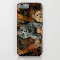 Cat Diesel with teddybear ! iPhone 6 Slim Case