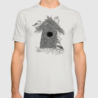 Rebuild Mens Fitted Tee Silver SMALL