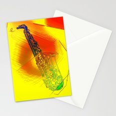 Saxophone Theme #1 Stationery Cards