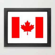 Canadian National flag, Authentic color and 3:5 scale version Framed Art Print