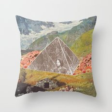 Between the mountains Throw Pillow