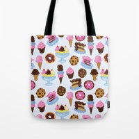 Dessert Pattern Tote Bag