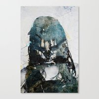 Canvas Print featuring Tousled bird mad girl 2 by  Maʁϟ