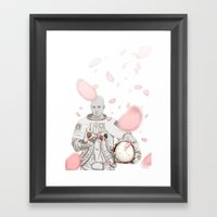Sakura Spaceman Framed Art Print