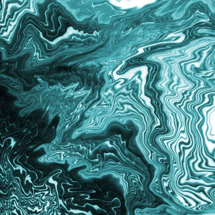 Yumiko Spilled Ink Painting Abstract Minimal Ocean Wave