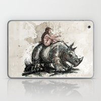 The Girl And The Rhino Laptop & iPad Skin