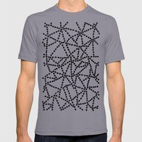 Dots Connect Mens Fitted Tee Slate SMALL
