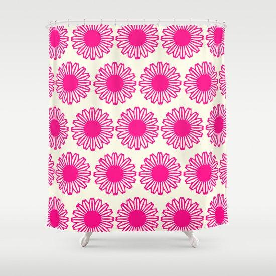 Vintage Flower_Pink Shower Curtain