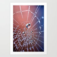Spiders Necklace Art Print