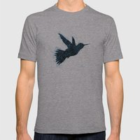 Bird Fly No. 1 (Black/Aqua) Mens Fitted Tee Athletic Grey SMALL