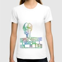 Slice of Life Womens Fitted Tee White SMALL