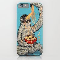Three Toed Sloth Eating Spaghetti From a Bowl iPhone 6 Slim Case