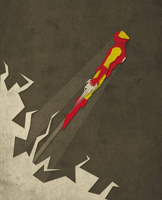 Paper Heroes - ironman Canvas Print