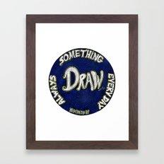 DRAW | Motivational Mandala Framed Art Print