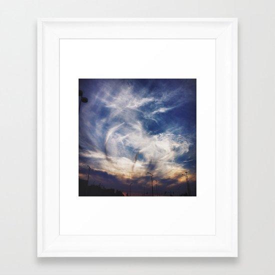 God's Canvas Framed Art Print