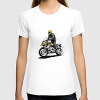 BMW 1200 GS Womens Fitted Tee White SMALL