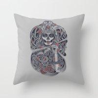 Madame Death Throw Pillow