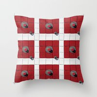 Connect the Squares Throw Pillow