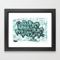 super marker Framed Art Print