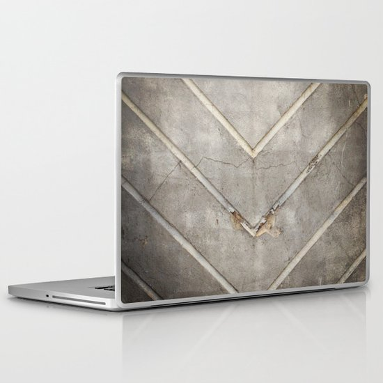Concrete Chevron Laptop & iPad Skin