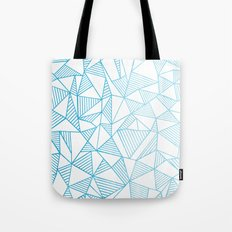 Abstraction Lines Watercolour Tote Bag