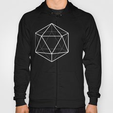 Icosahedron Pattern Bright Blue Hoody