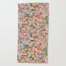 emoji / emoticons Beach Towel