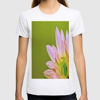 Pink Daisy Womens Fitted Tee Ash Grey SMALL