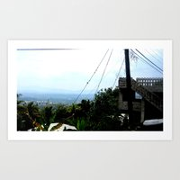 Traveling Up a Mountain Art Print
