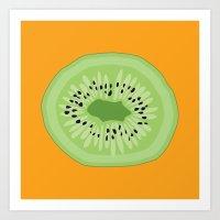 Kiwi Kraze Art Print