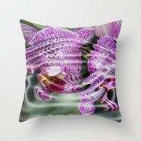 Sunken Orchids Throw Pillow
