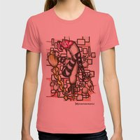 Bomb Girl Womens Fitted Tee Pomegranate SMALL