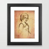 Katniss - Portrait Framed Art Print
