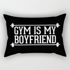 Gym Is My Boyfriend Quote Rectangular Pillow