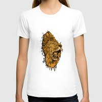 Golden Lion Womens Fitted Tee White SMALL