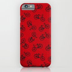 Red Bicycle Pattern iPhone 6s Slim Case