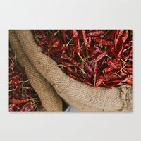 Peppers in the Market Canvas Print