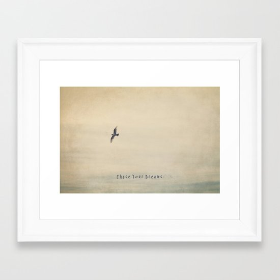 Chase Your Dreams Framed Art Print
