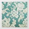 white lace - photo of vintage white lace Canvas Print