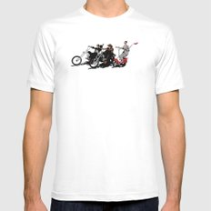 peewee rider. Mens Fitted Tee White SMALL