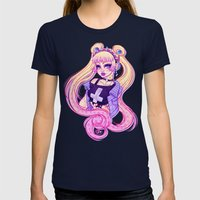 Pastel Goth Usagi (Glass… Womens Fitted Tee Navy SMALL
