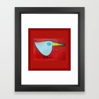 Birdy Blue Framed Art Print