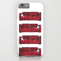 iPhone & iPod Case featuring cat in a red sofa  by memories warehouse by @aikogg