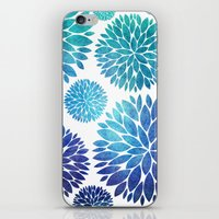 Ocean Flowers Watercolor iPhone & iPod Skin
